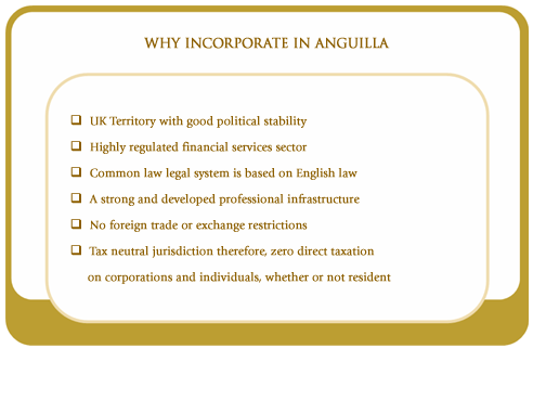 Why incorporate in Anguilla