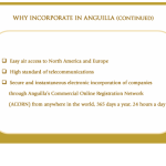 Why Incorporate in Anguilla (continued)
