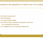Documents required to provide to the company