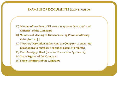 Example of documents (continued)