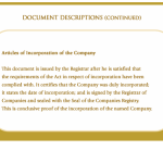 Articles of incorporation of the company