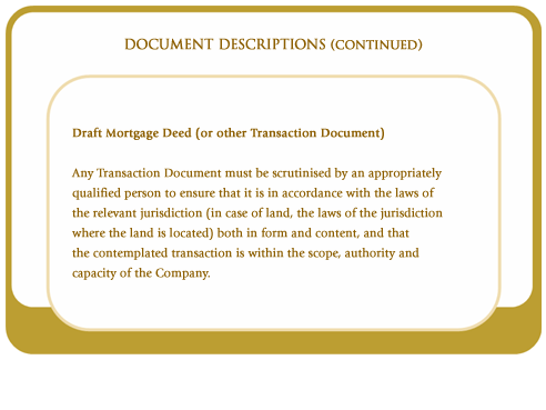 Draft mortgage deed