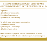 General difference between certified and registered documents in the structure of an IBC (part 2 continued)